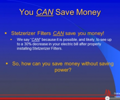 Stetzer Filters: You Can't Save Power… You CAN Save Money!